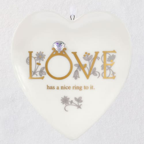 First Comes Love Porcelain Ornament