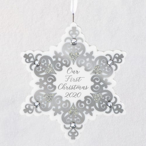 Our First Christmas 2020 Snowflake Porcelain Ornament