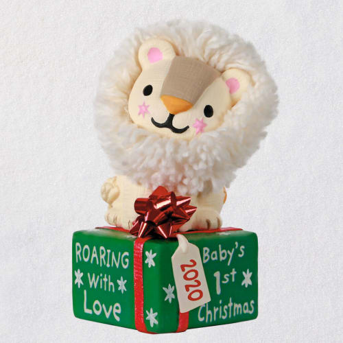 Baby's First Christmas Roaring With Love Lion 2020 Ornament