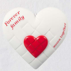 Close-Knit Family Heart Porcelain Ornament