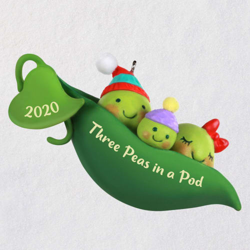 Three Peas in a Pod New Baby 2020 Ornament