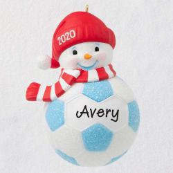 Soccer Snowman 2020 Personalized Ornament