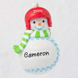 Baseball Snowman 2020 Personalized Ornament