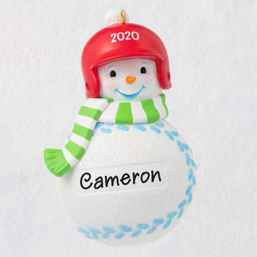 Basketball Snowman 2020 Personalized Ornament