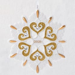 2020 Snowflake Porcelain Ornament