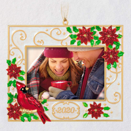 Deck the Halls 2020 Metal Photo Frame Ornament