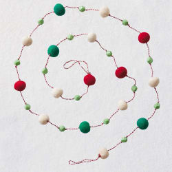 Miniature Festive Fabric Garland