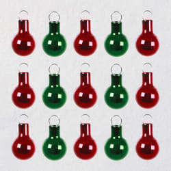 Mini Red and Green Glass Ornaments