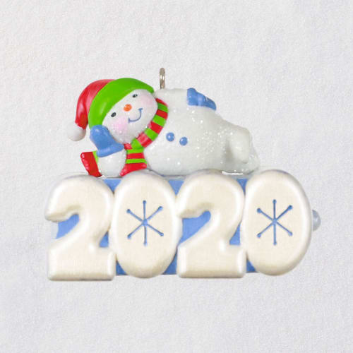 Mini A Snowy 2020 Ornament With Light
