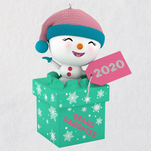 The Gift of Granddaughters Snowman 2020 Ornament
