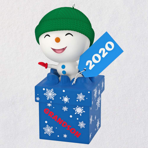 The Gift of Grandsons Snowman 2020 Ornament