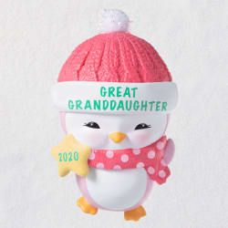Great-Granddaughter Penguin 2020 Ornament