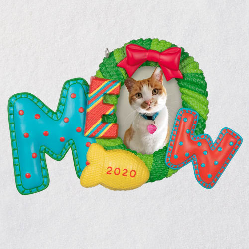 Meowy Christmas Cat 2020 Photo Frame Ornament