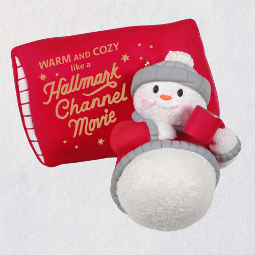 Hallmark Channel Warm & Cozy Christmas Snowman Ornament