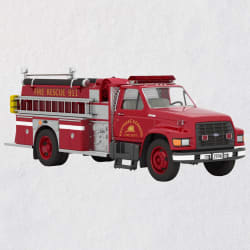 Fire Brigade 1996 Ford F-800 Fire Engine 2020 Ornament