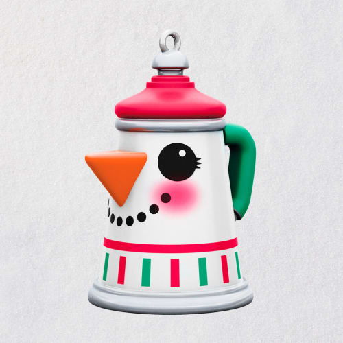 Mini Pint-Sized Percolator Metal Ornament