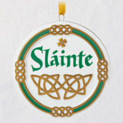 An Irish Toast Sláinte Porcelain Ornament
