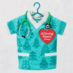 A Caring Heart Scrubs Fabric Ornament