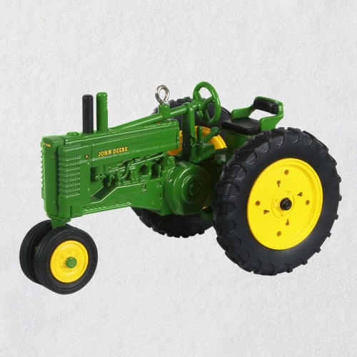 John Deere Model A Tractor Metal Ornament