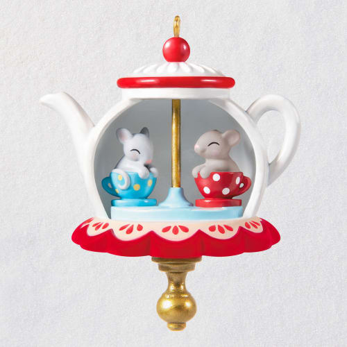 Mini Tea Party Twirl-About Ornament With Motion, 1.62