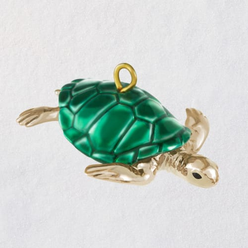 Mini Teeny Turtle Metal Ornament, 0.5