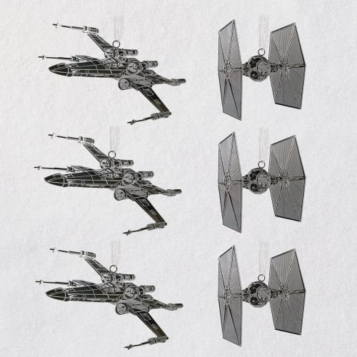 Star Wars™ Galactic Battle Metal Ornaments, Set of 6