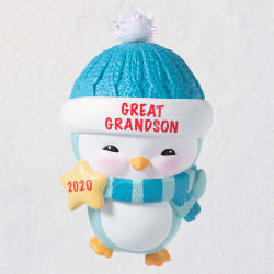Great-Grandson Penguin 2020 Ornament