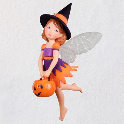 Sweet Witch Fairy Halloween Ornament