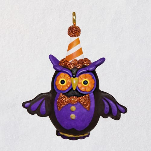 Mini Lil' Hoot Owl Halloween Ornament, 1.34