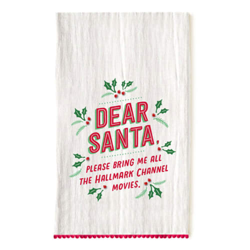Hallmark Channel Dear Santa Tea Towel