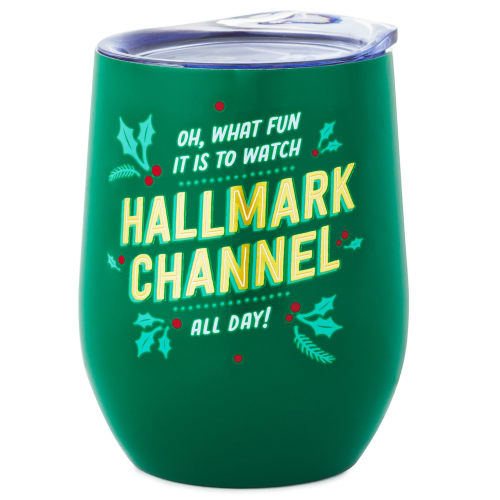 Hallmark Channel Oh What Fun Insulated Wine Tumbler