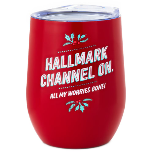 Hallmark Channel On Insulated Wine Tumbler