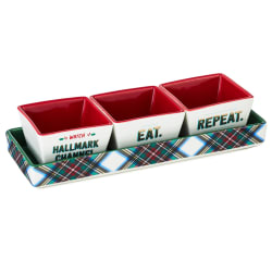 Eat Hallmark Channel Repeat Condiment Bowls