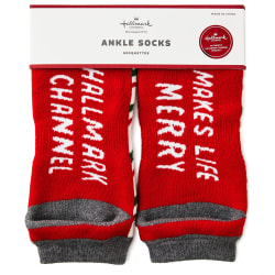 Hallmark Channel Makes Life Merry Ankle Socks