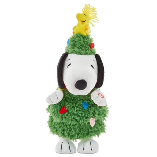 Peanuts® Christmas Tree Snoopy Musical Stuffed Animal With Light