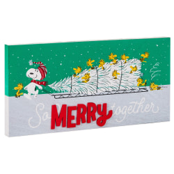 Peanuts® So Merry Together Wood Quote Sign