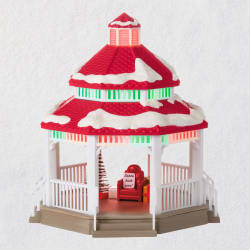 Sound-a-Light Santa's Gazebo Tabletop Decoration