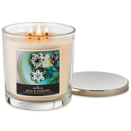 Milk and Cookies Scented 3-Wick Candle