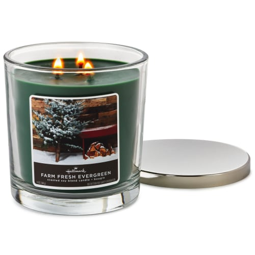 Farm Fresh Evergreen Scented 3-Wick Candle
