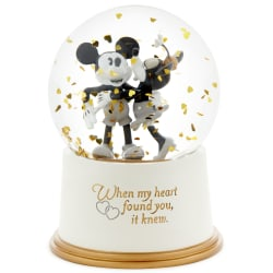 Disney Mickey and Minnie My Heart Found You Water Globe