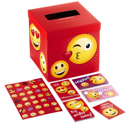 Smiley Face Emoticons Kids Classroom Valentines Set