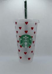 Heart Full Wrap Starbucks Tumbler