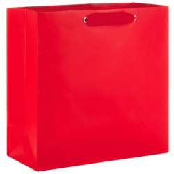 Red Large Square Gift Bag