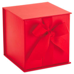 Red Small Gift Box With Shredded Paper Filler