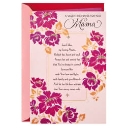 A Prayer for Mama Religious Valentine's Day Card