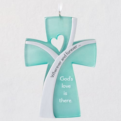 God's Love Is There Cross Ornament