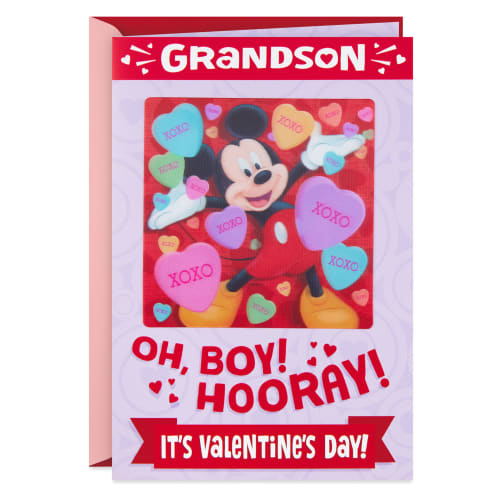 Disney Mickey Mouse Valentine's Day Card for Grandson