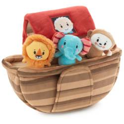 Noah's Ark and Animals Plush Playset, 7 Pieces