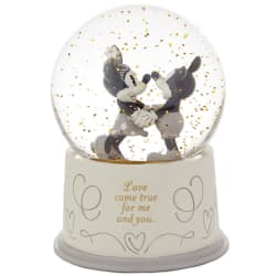 Disney Mickey and Minnie Love Came True Snow Globe