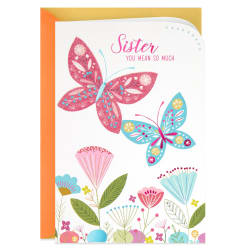 Butterflies You Mean So Much Easter Card for Sister